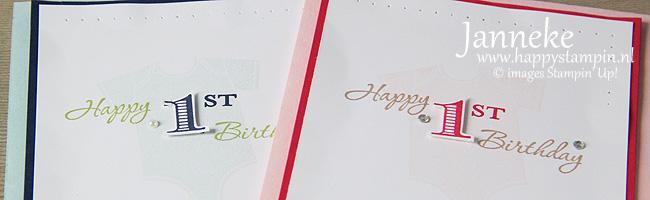 Stampin' Up! – Happy 1st Birthday