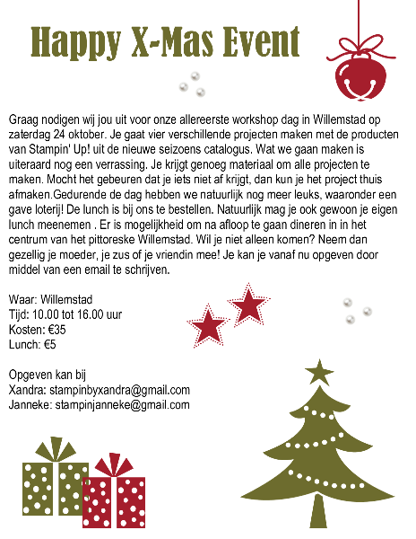 You're invited, Happy X-Mas Event!