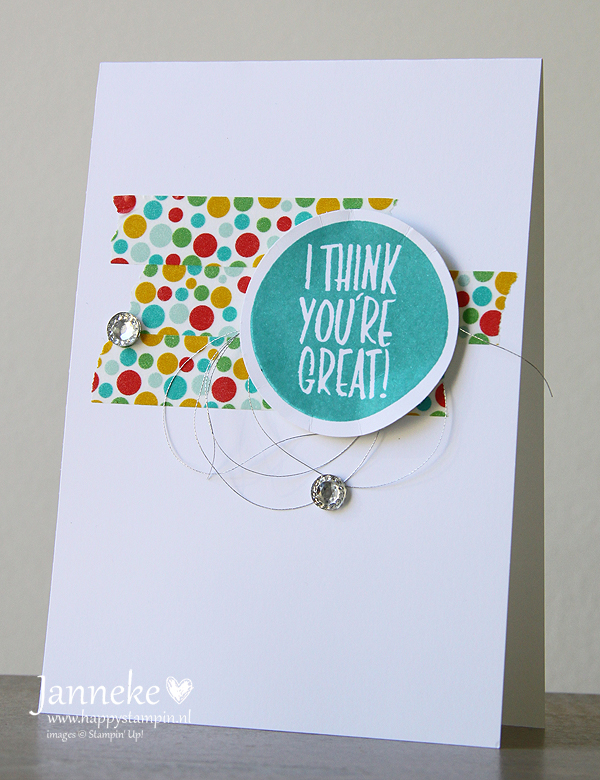 Stampin' Up! – I Think You're Great