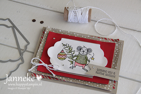 Stampin' Up! Wishing you met Merry Mice