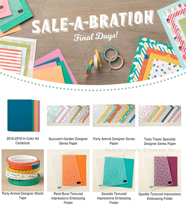 Stampin' Up! – Sale A Brations