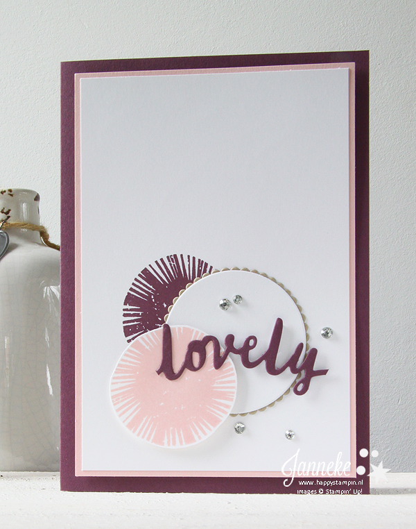Happy Stampin' Stampin' Up! Janneke de Jong Lovely Words thinlits