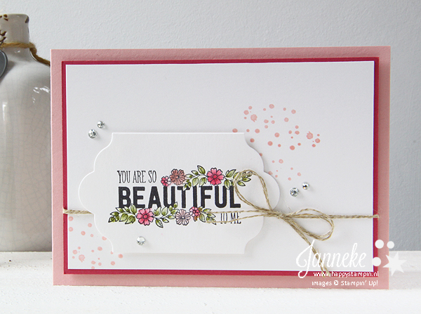Happy Stampin' Stampin' Up! Janneke de Jong Just add tekst