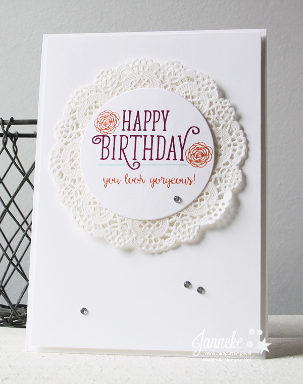 Stampin' Up - Happy Stampin' Happy Birthday Gorgeous