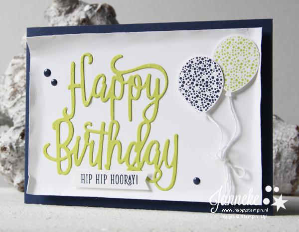 Stampin' Up! - Happy Stampin' - Janneke de Jong - Happy Birthday Thinlits