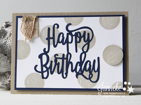 Stampin' Up! - Happy Stampin' - Happy Birthday Thinlits