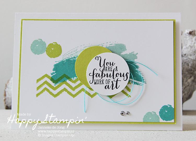 Stampin' Up! - Happy Stampin' - Janneke de Jong = Work of Art