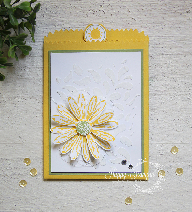Stampin' Up! - Happy Stampin' - Janneke de Jong - Mini Treat Bag - Daisy