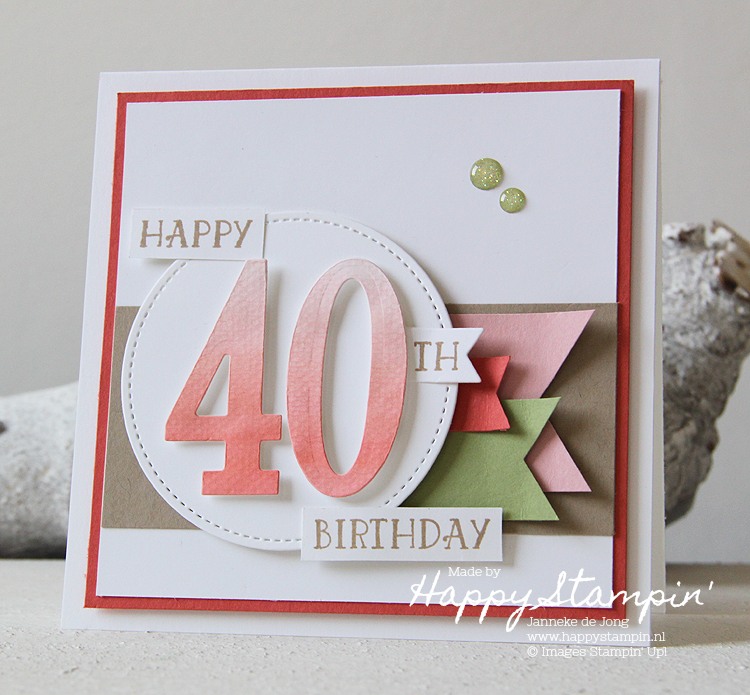 Stampin' Up! - Happy Stampin' - Janneke de Jong - Numbers of Years