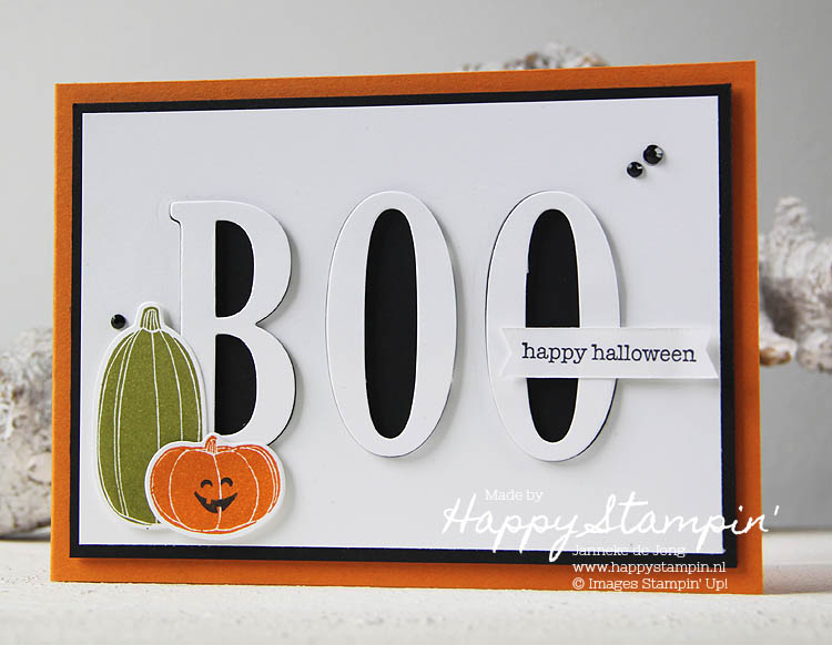 Stampin' Up! - Happy Stampin' - Janneke de Jong - Boo - Pick a Pumpkin