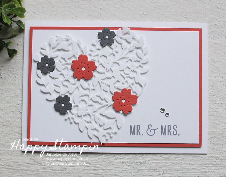 Stampin' Up! - Happy Stampin' - Janneke de Jong - Mr & Mrs