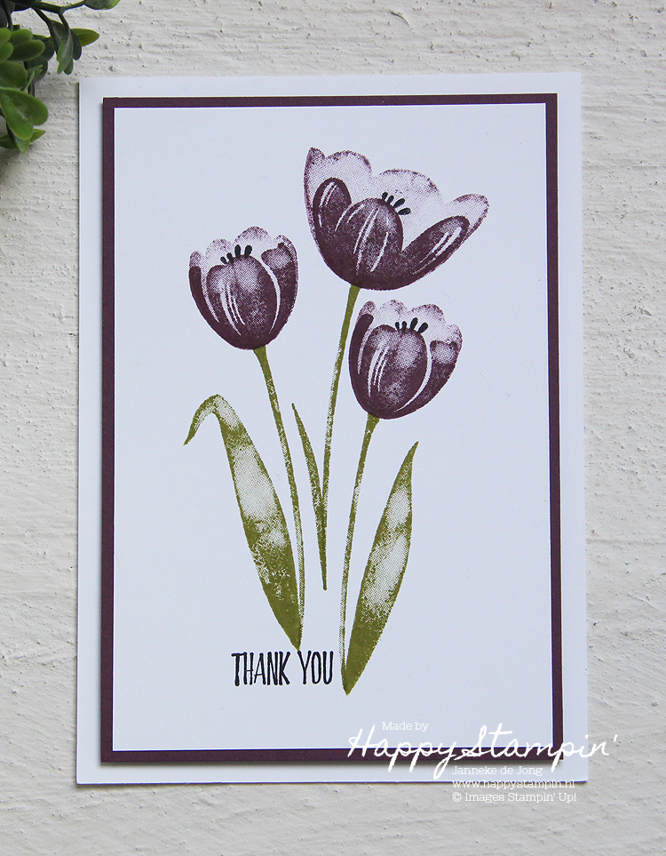 Stampin' Up! - Happy Stampin' - Janneke de Jong Thank you