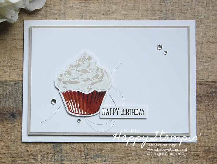 Stampin' Up! - Happy Stampin' - Janneke de Jong - Sweet Cupecake
