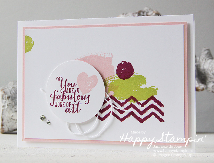 Stampin' Up! - Happy Stampin' - Janneke de Jong - Work of Art