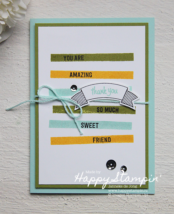 Stampin' Up! - Happy Stampin' - Janneke de Jong - Thoughtful Banners