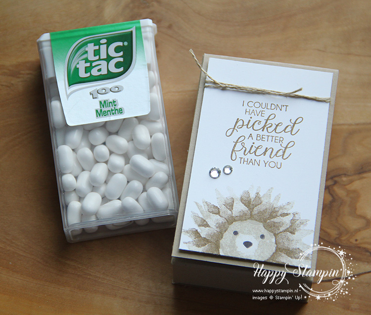 Stampin' Up! - Happy Stampin' - Janneke de Jong - Tic Tac box