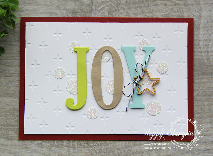 Stampin' Up! - Happy Stampin' - Janneke de Jong - Joy - Large Letters