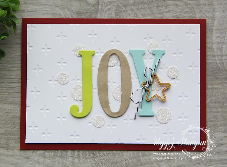 Stampin' Up! - Happy Stampin' - Janneke de Jong - Joy - Large Letters