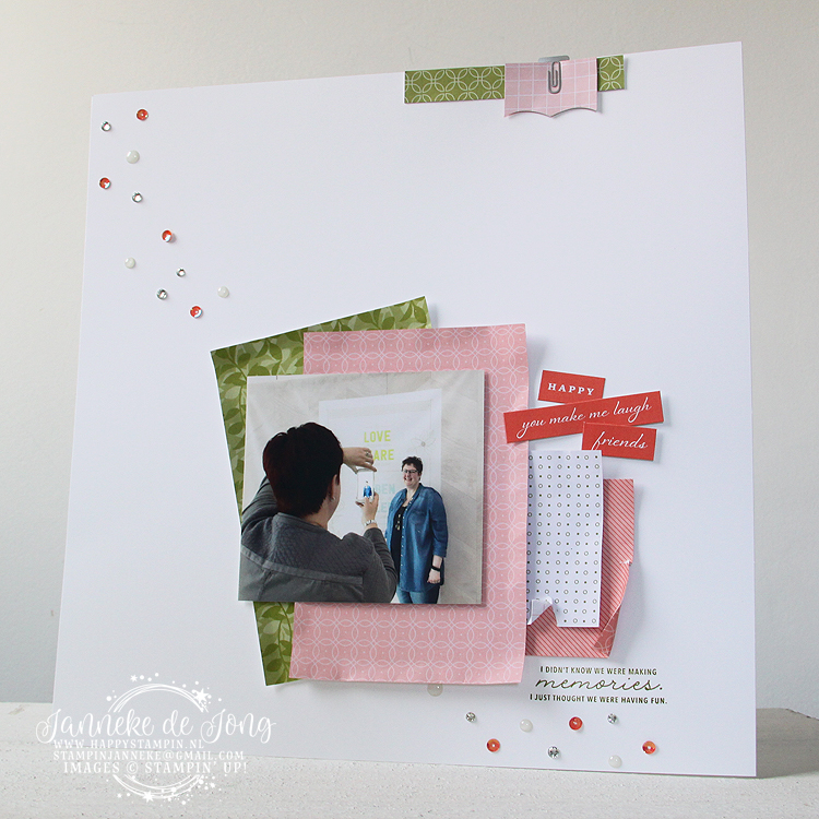 Stampin' Up! - Happy Stampin' - Janneke de Jong - Memories