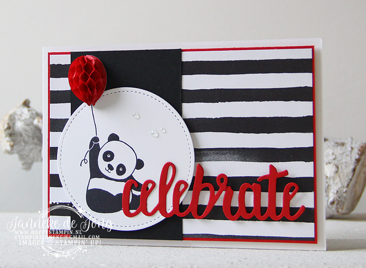 Stampin' Up! - Happy Stampin' - Janneke de Jong - Party Panda - Celebrate