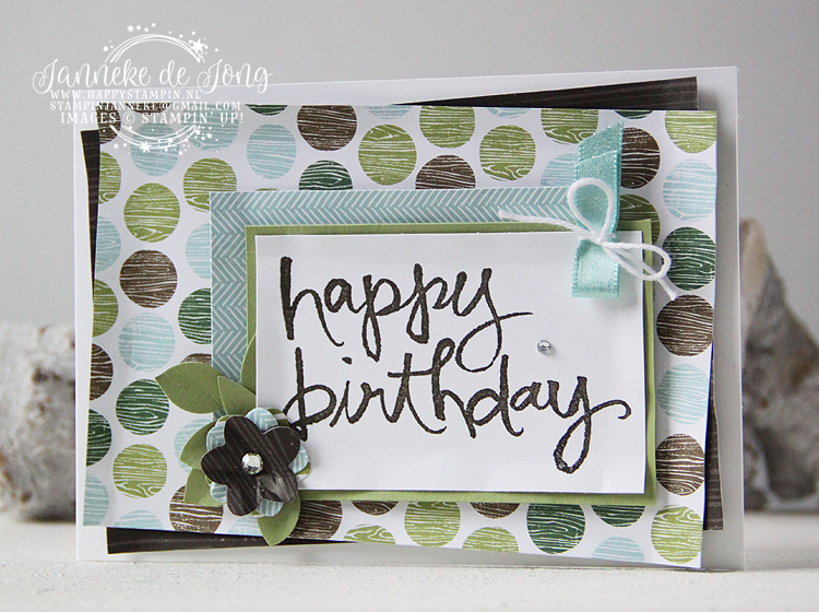 Stampin' Up! - Happy Stampin' - Janneke de Jong - Happy Birthday - Watercolor Words