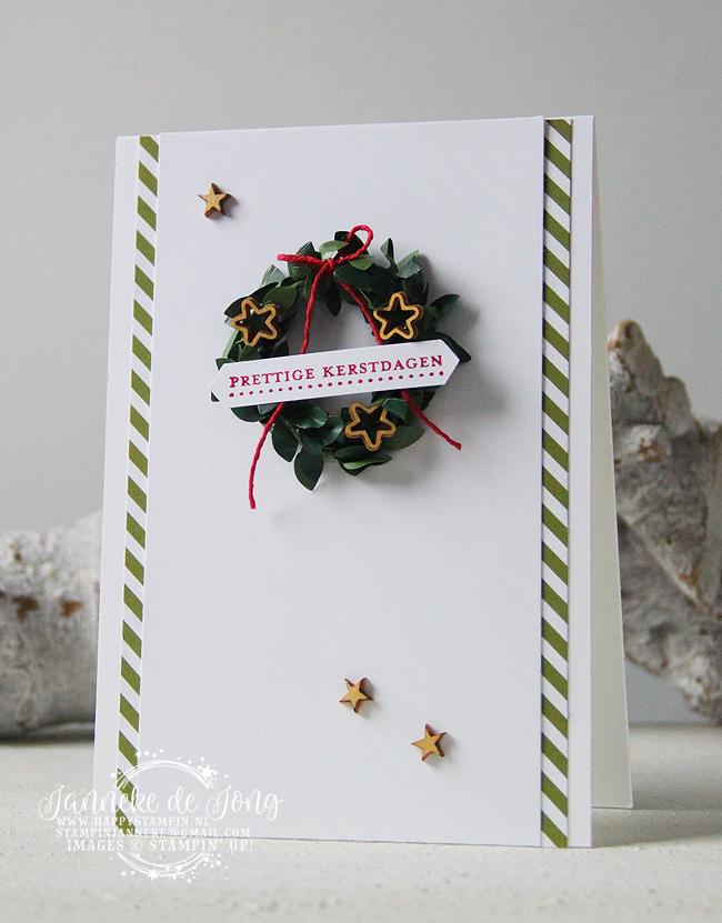 Stampin' Up! - Happy Stampin' - Janneke de Jong - Prettige kerstdagen - Sentimenten