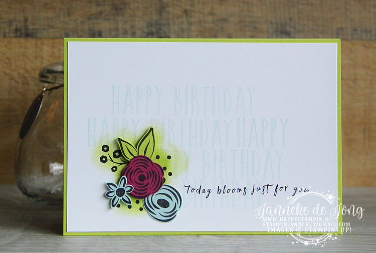 Stampin' Up! - Happy Stampin' - Janneke de Jong - Perennial Birthday