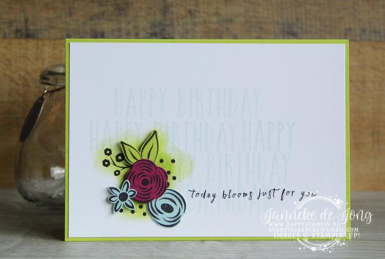 Stampin' Up! - Happy Stampin' - Janneke de Jong - Perennial Birthday