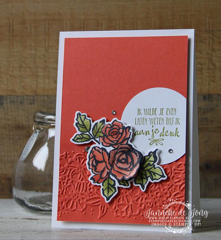 Stampin' Up! - Happy Stampin' - Janneke de Jong - In de bloemetjes zetten
