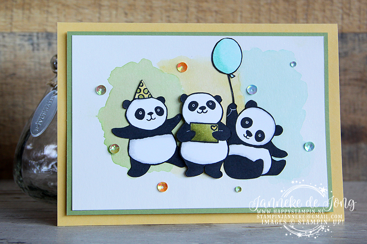 Stampin' Up! - Happy Stampin' - Janneke de Jong - Sale A Brations - Party Pandas