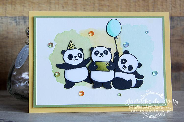 Stampin' Up! - Happy Stampin' - Janneke de Jong - Sale A Brations - Party Pandas