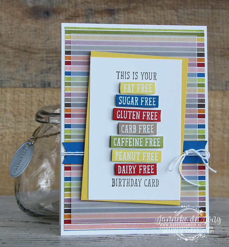Stampin' Up! - Happy Stampin' - Janneke de Jong - Birthday Wit