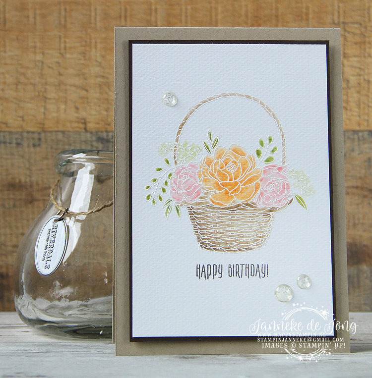 Stampin' Up! - Happy Stampin' - Janneke de Jong - Blossoming Basket - Sale A Brations