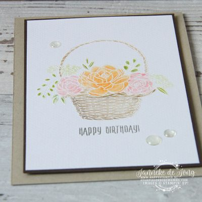 Stampin' Up! – Sale A Brations – Blossoming Basket