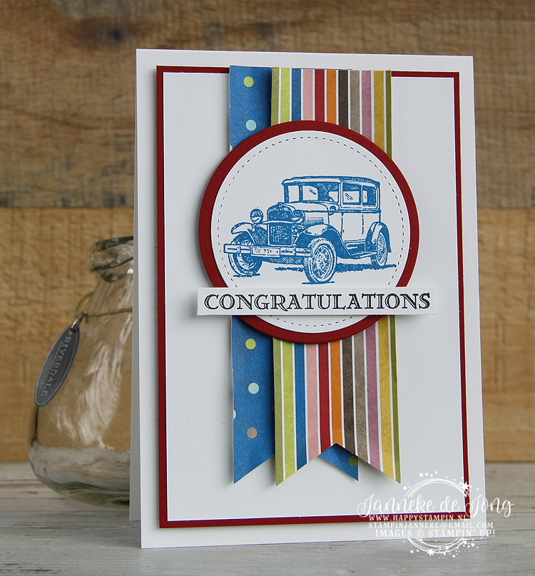 Stampin' Up! - Happy Stampin' - Janneke de Jong - Guy Greetings - Congratulations