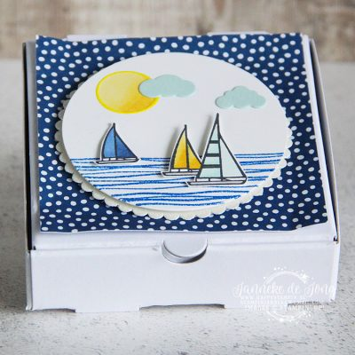 Stampin' Up! – Lilypad Lake – Mini pizza box
