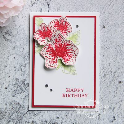 Stampin' Up! – Climbing Orchid – Happy Birthday & You Tube