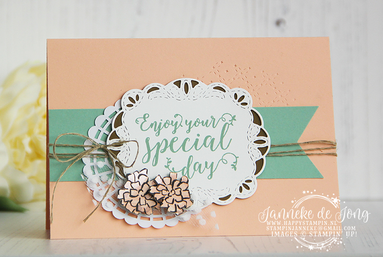 Stampin' Up! - Happy Stampin' - Janneke de Jong - Stitched all Around