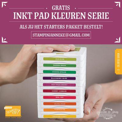 Stampin' Up! – Laatste kans om 10 inkt pads gratis te krijgen ;-)