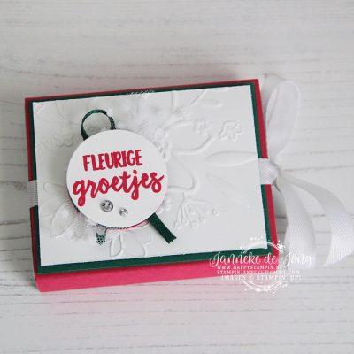 Stampin' Up! – Bloemen zeggen meer – chocolade doosje