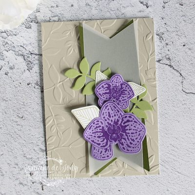 Stampin' Up! – Climbing Orchid kaart