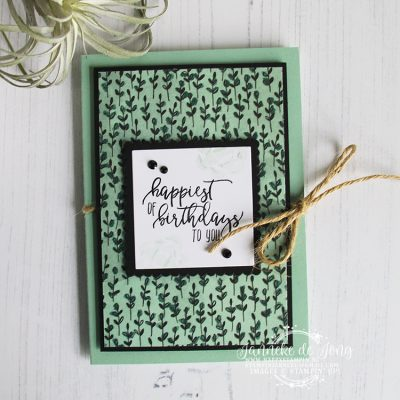 Stampin' Up! – Picture Perfect Birthday – Happiest of Birthdays to you