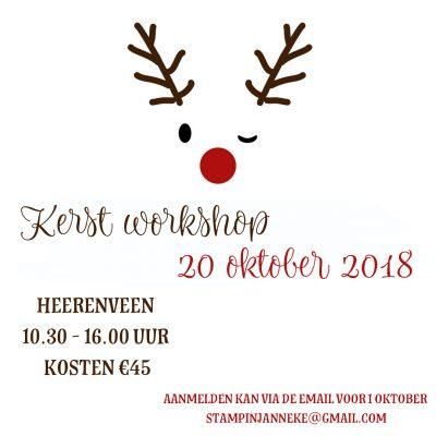 Stampin' Up! – Kerst workshop dag in Heerenveen