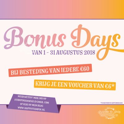 Stampin' Up! – Bonus Days & Blended Seasons bundel