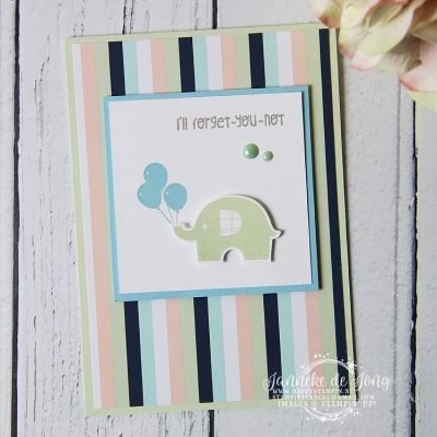 Stampin' Up! – Little Elephant – I'll forget-you-not