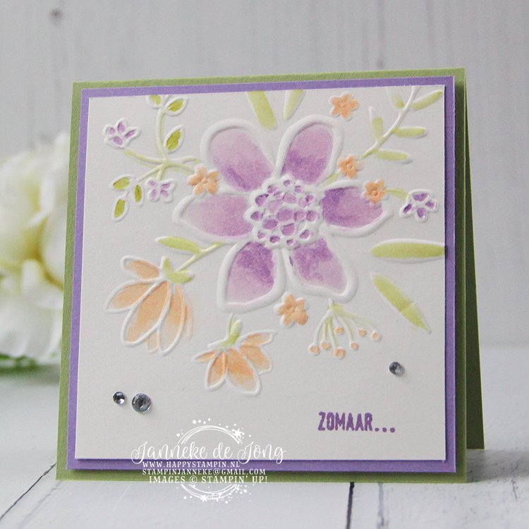 Stampin' Up! - Janneke de Jong - Lovely Floral Embossing Folder - Inspiratie en Verkoop van Stampin' Up!