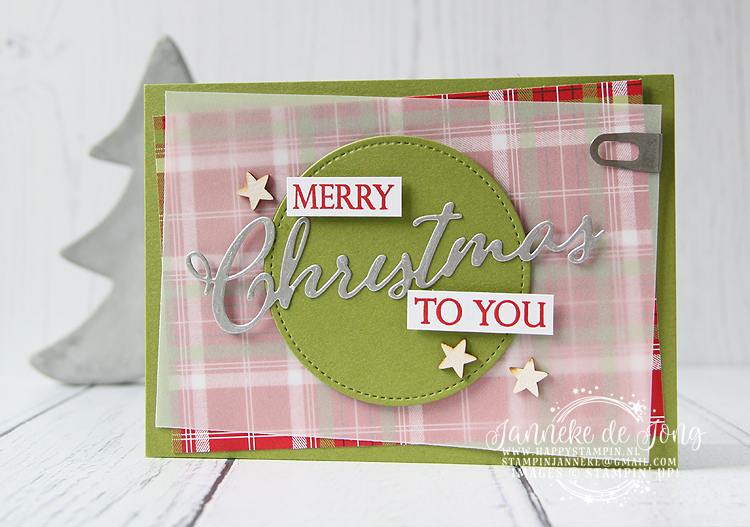 Stampin' Up! - Janneke de Jong - Merry Christmas to All - Verkoop en Inspiratie van Stampin' Up!