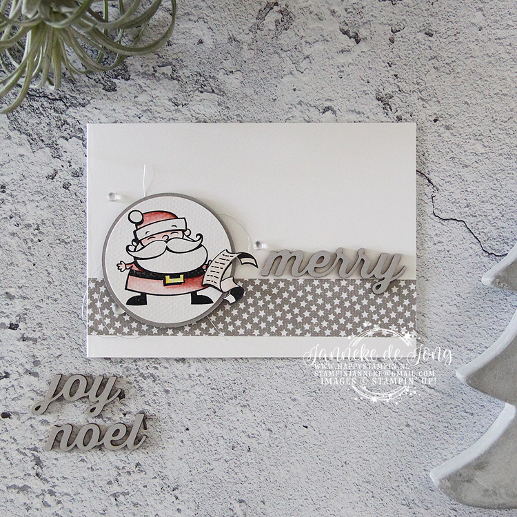 Stampin' Up! - Janneke de Jong - Signs of Santa - Inspiratie en verkoop van Stampin' Up!