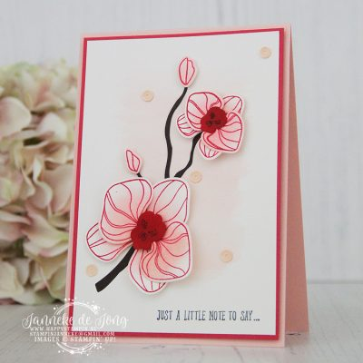 Stampin' Up! – Climbing Orchid – Be Inspired Design Team blog hop