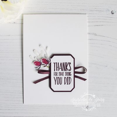 Stampin' Up! – All Things Thanks – Thanks for the thing you did